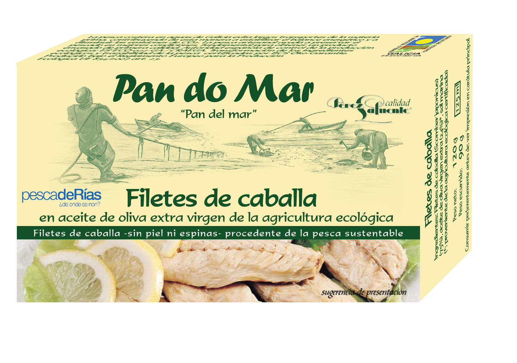 Mackerel fillets in organic olive oil (120g)