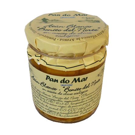 """Atún Blanco """"Bonito del Norte"""" en aceite de oliva ecológico (220g)"""