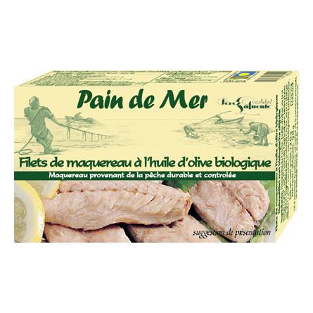 Filets de maquereau à l'huile d'olive biologique