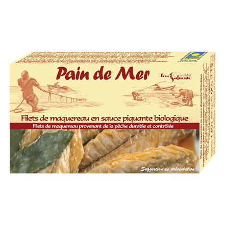 Filets de maquereau en sauce piquante biologique