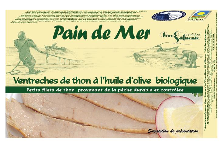 Ventreches de thon à l'huile d'olive biologique (120g)