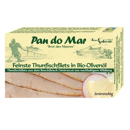 Feinste Thunfischfilets in Bio-Olivenöl 120g