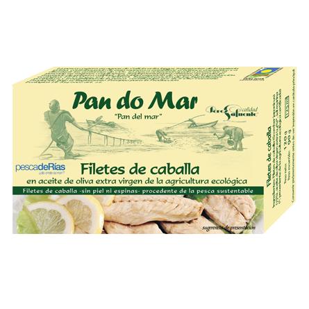 Filetes de caballa en aceite de oliva ecológico (120g)