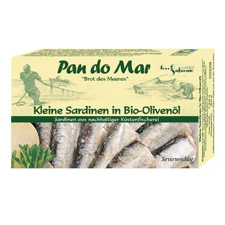 Kleine Sardinen in Bio-Olivenöl (120g)