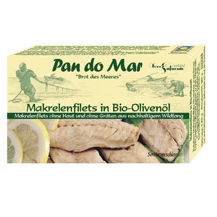 Makrelenfilets in Bio-Olivenöl 120g
