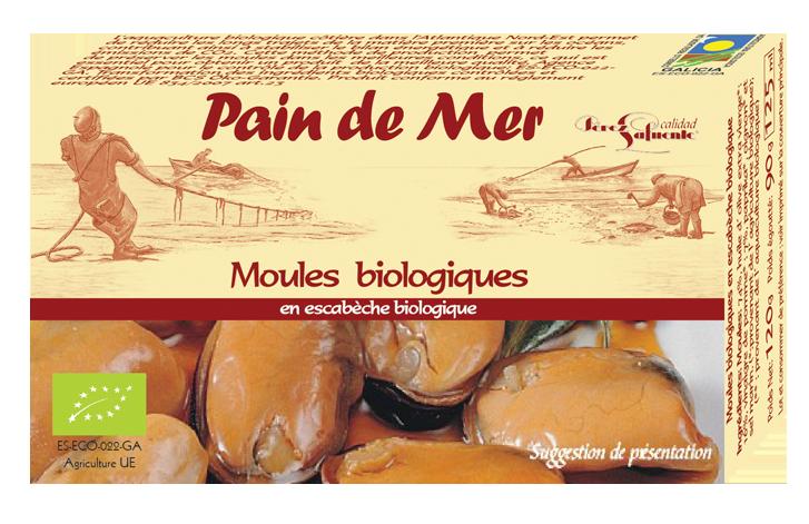 Moules biologiques -en escabèche biologique-