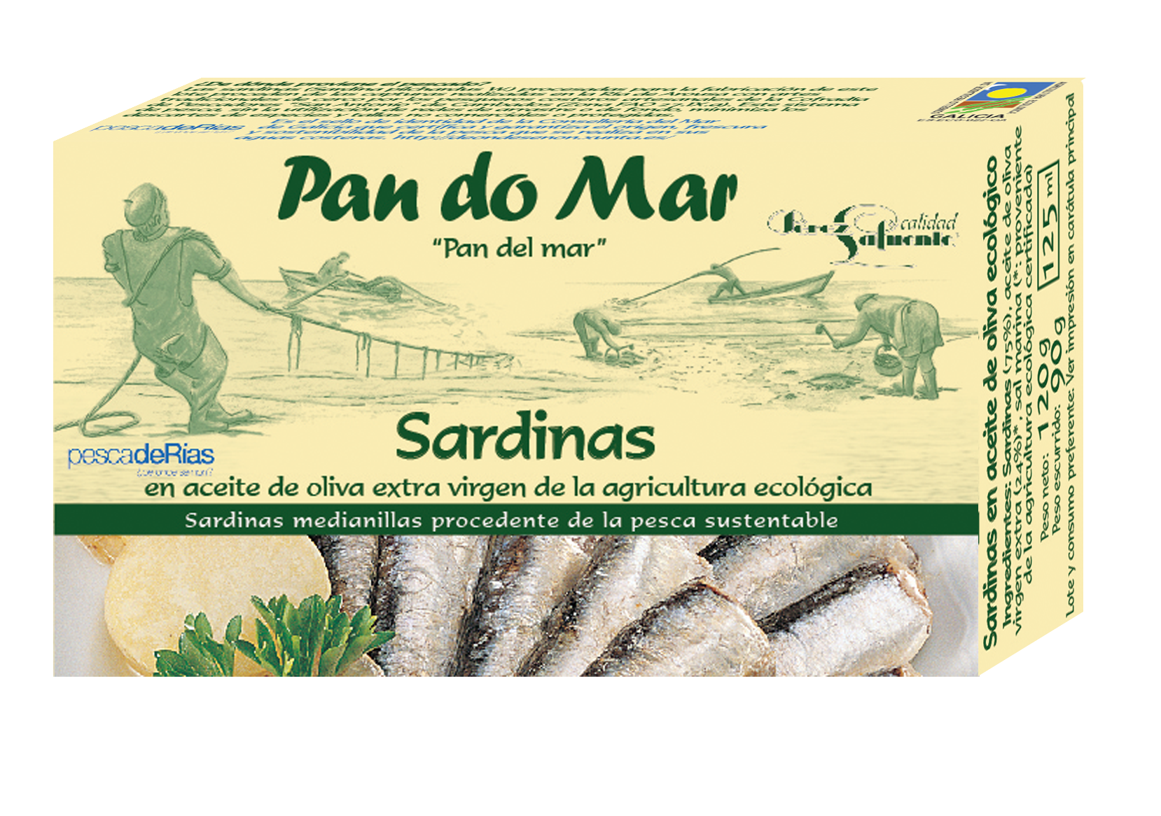 Little sardines in organic olive oil (120g)