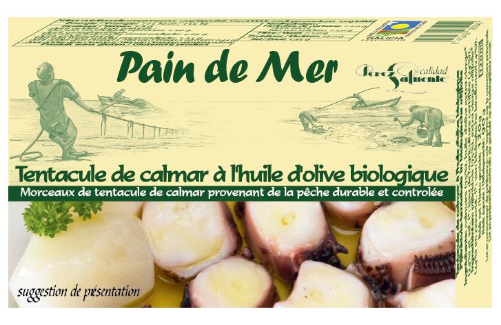 Tentacules de calmars à l'huile d'olive biologique
