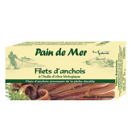 Filets d'anchois à l'huile d'olive biologique