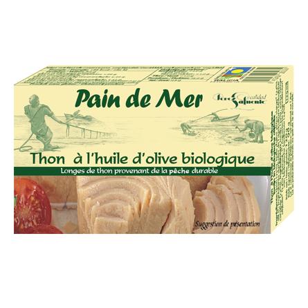 Thon à l'huile d'olive biologique (120g)