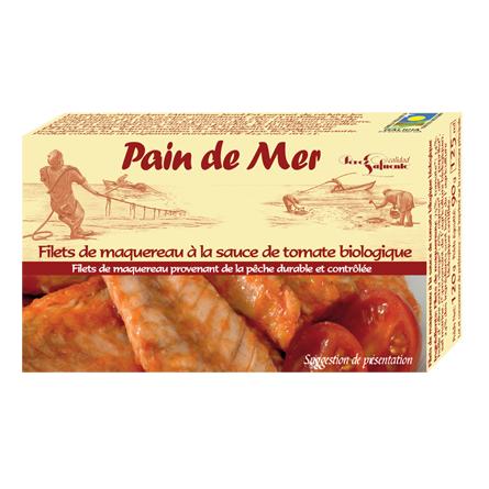 Filets de maquereau à la sauce de tomate biologique