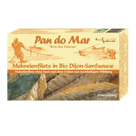 Makrelenfilets in Bio-Dijonsenfsauce 120g