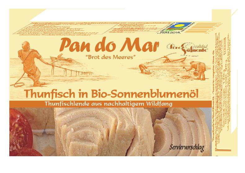Thunfisch in Bio-Sonnenblumenöl 120g