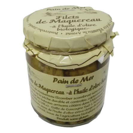 Filets de Maquereau -à l'huile d'olive bioloqique-