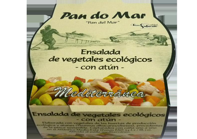 Ensalada de vegetales ecológicos -con Atún-