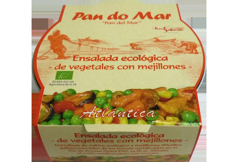 Ensalada ecológica de vegetales y mejillones 250g