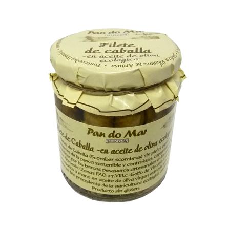 Filetes de caballa -en aceite de oliva ecológico- (220g)