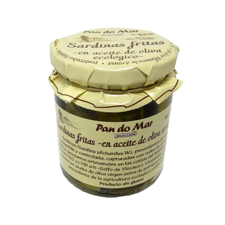 Sardinas fritas -en aceite de oliva ecológico- (220g)