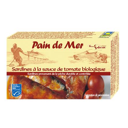 Sardines à la sauce de tomate biologique