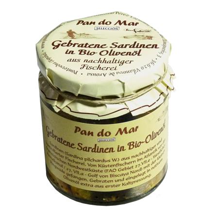 Gebratene Sardinen in Bio-Olivenöl