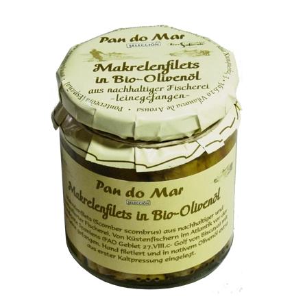 Makrelenfilets in Bio-Olivenöl